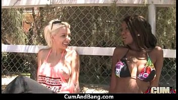 fucking sisters white on real ever guy ebony first camera time a Pleasure in water