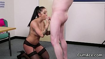style after swallows doggy cum the guards ashley a security Messy anal creampie hd