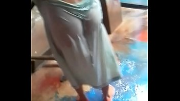ass bengali outdoor matuted washing aunty Licked while watching tv